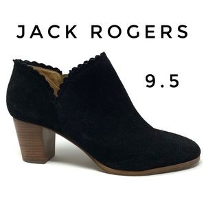 Jack Rogers Marianne Scalloped edge suede booties